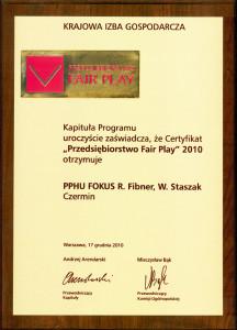 pphu fokus producent kotlow centralnego ogrzewania fair play 2010 nagroda 216x300 pphu fokus producent kotlow centralnego ogrzewania fair play 2010 nagroda