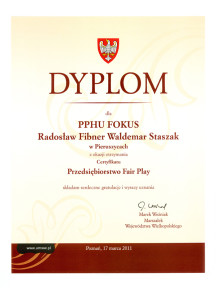 pphu fokus producent kotlow centralnego ogrzewania fair play 2011 dyplom 216x300 pphu fokus producent kotlow centralnego ogrzewania fair play 2011 dyplom