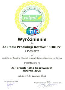 pphu fokus producent kotlow centralnego ogrzewania wyroznienie 2005 216x300 pphu fokus producent kotlow centralnego ogrzewania wyroznienie 2005